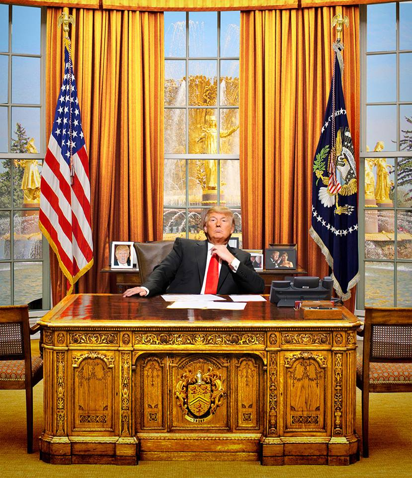 First trump presidential portrait revealed ...