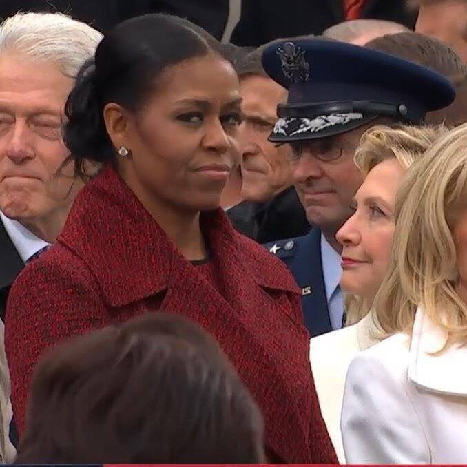 Picture Of The Day: That Moment... Bill Clinton gets CAUGHT by Hillary Clinton checking out Ivanka as Michelle Obama suddenly realizes she's not proud of her country anymore.