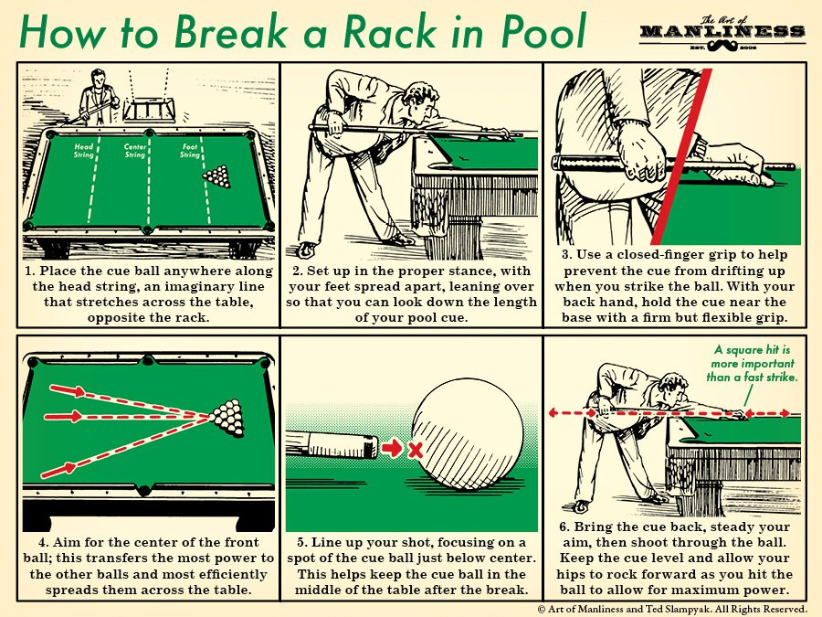 How To Of The Day: How To Break A Rack In Pool