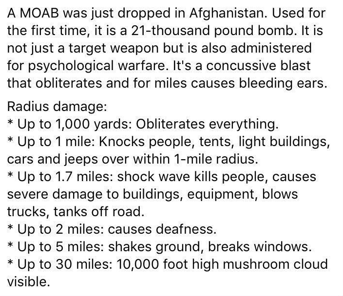 Effects Of A MOAB
