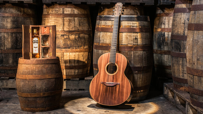 Guitar Built With Wood From Irish Whiskey Barrels