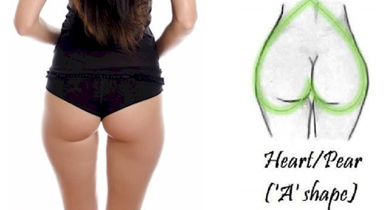 What The Shape Of Your Butt Says About Your Health - Heart-Shaped Bum