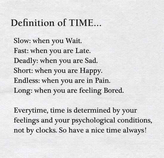 The Definition Of Time