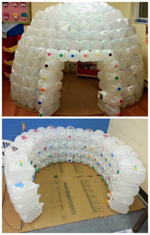 How To Of The Day: How To Build A Milk Jug Igloo
