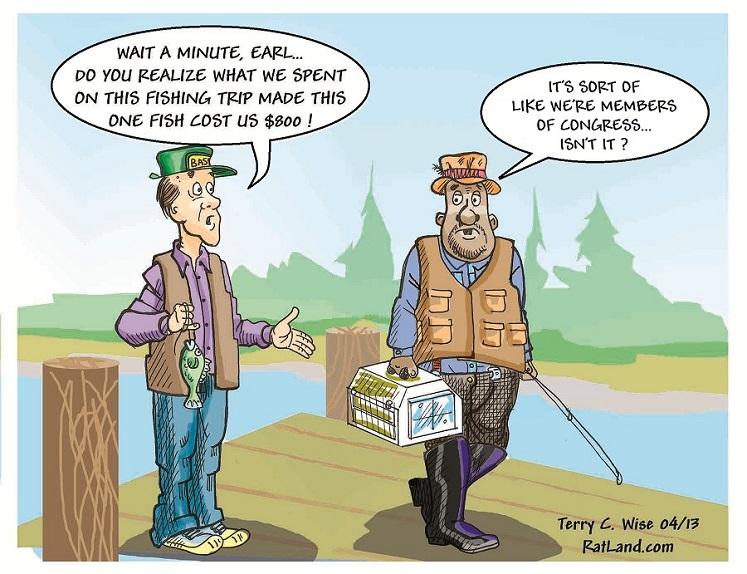Cartoon Of The Day: Fishing Trip - Common Sense Evaluation
