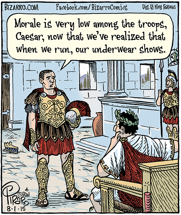 Free Comic Book Day History: Cartoon Of The Day: Low Morale